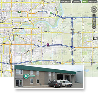 Keddco Map: Edmonton Location