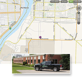 Keddco Map: Sarnia Location